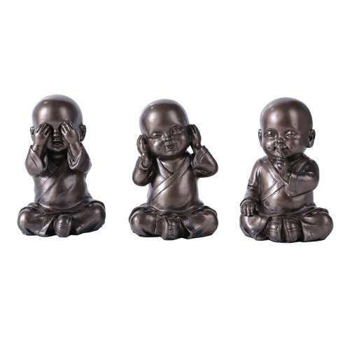 See Hear Speak No Evil Monks Statue Set of Three