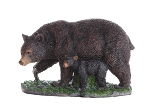 Pacific Giftware Black Bear and Bear Cub Collectible Figurine Statue Home Decor Gift