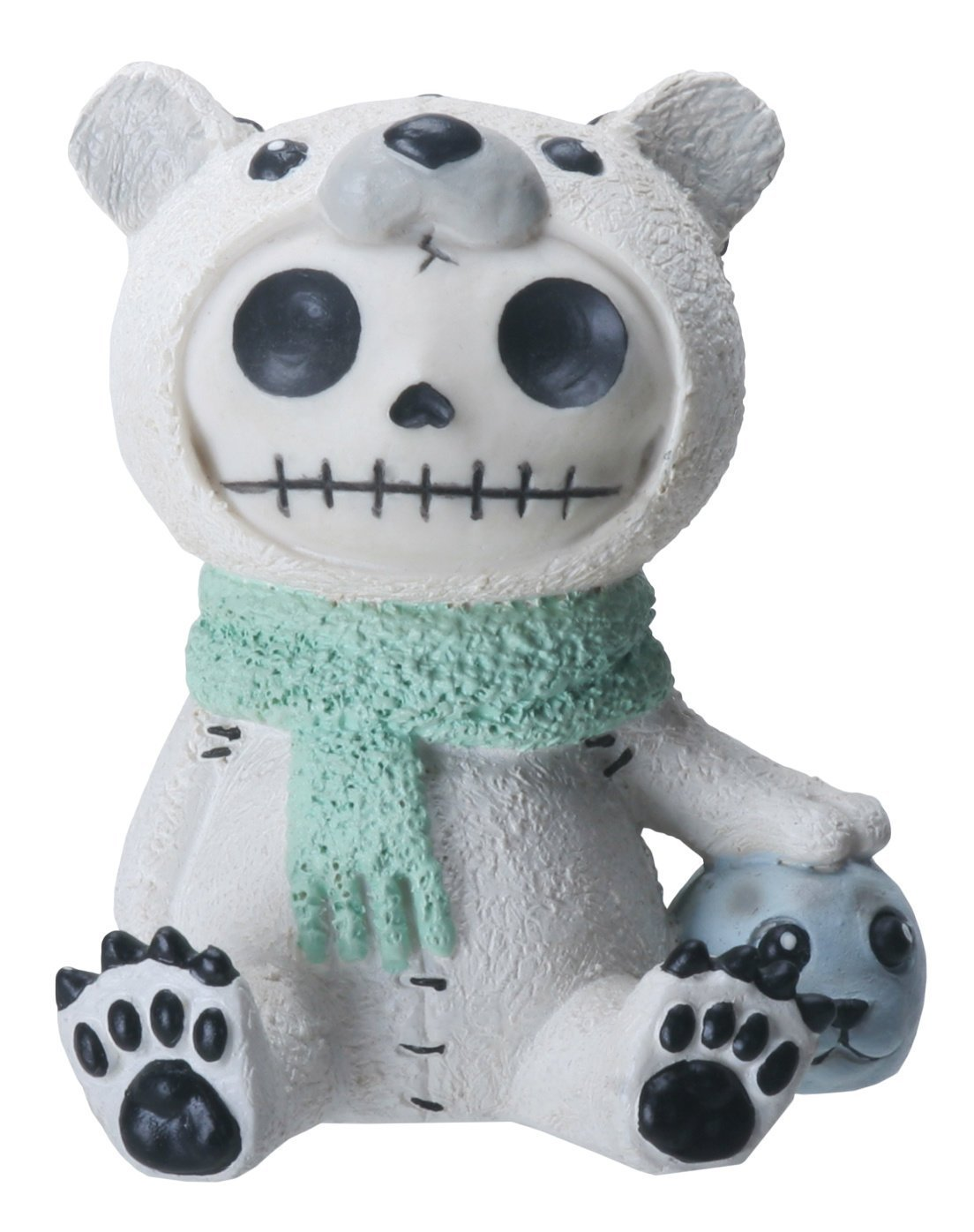 SUMMIT COLLECTION Furrybones Chilton Signature Skeleton in Polar Bear Costume with Baby Seal
