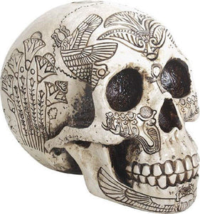 YTC Summit International Ancient Egypt Human Skull Etched with Egyptian Symbols Figurine Skeleton New