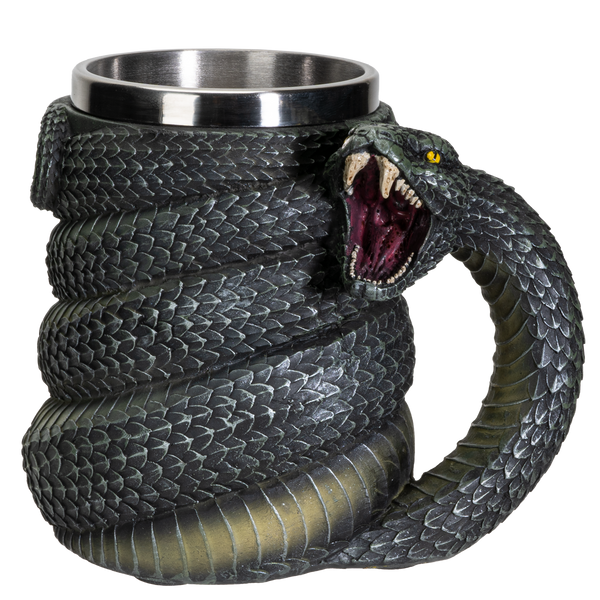 Serpent Snake Coffee Mug Cup 16 fl oz Green Anaconda Beer Tankard