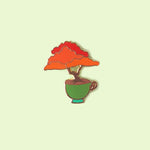 Royal Poinciana Bonsai Tree Pin