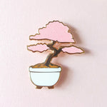 Sakura Bonsai Pin - White or Black