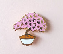 Load image into Gallery viewer, Maple Bonsai Pin - White or Black