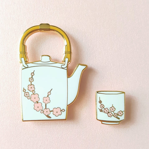 Sakura Tea Pin Set