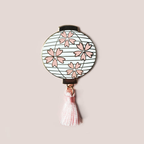 Sakura Lantern Pin - White or Black