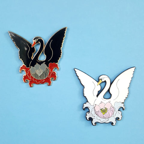 Sale CLEARANCE Swan Lotus Pin