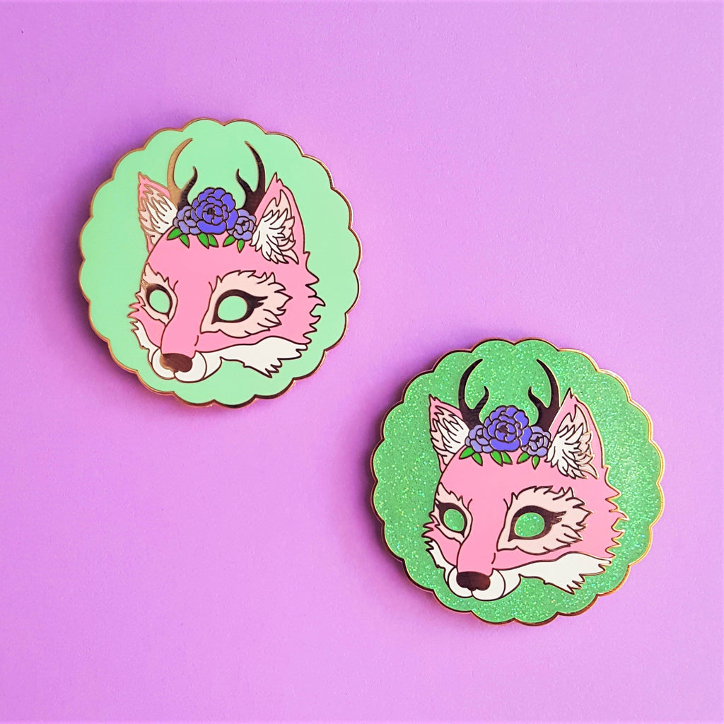 SALE Faux Fox Studio Logo Enamel Pin