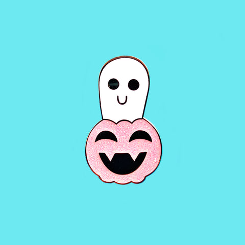 CLEARANCE Ghostie Pumpkin Pin - FFS x Sugoipins