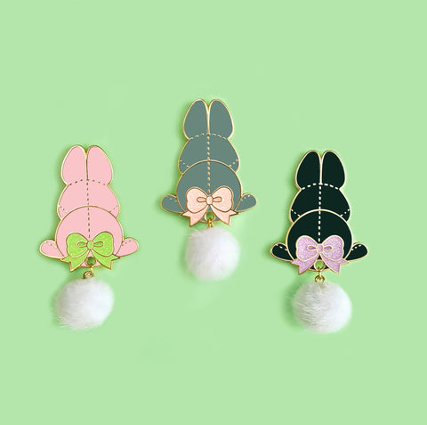 Sale CLEARANCE Bunny Pom-Pom Pin