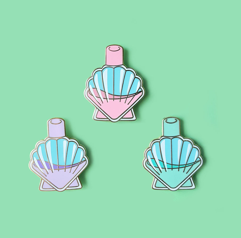 Sale CLEARANCE Seashell Mermaid Perfume Pin