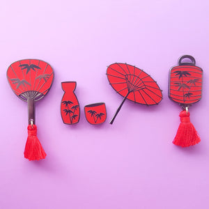 Sale CLEARANCE Bamboo Themed Enamel Pin Bundle