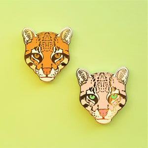 Sale *CLEARANCE* Ocelot Enamel Pins