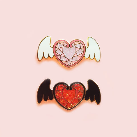 Sale CLEARANCE Winged Heart Pin