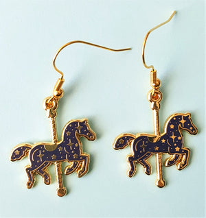 Blue Carousel and/or Matching Earrings