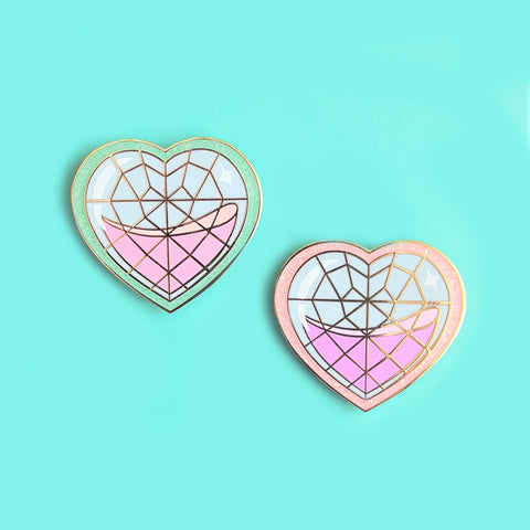 Sale CLEARANCE Glitter Heart Container Pin