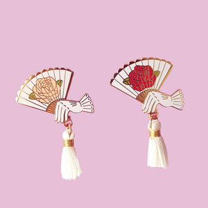Sale Clearance Elegant Hand Fan Enamel Pin