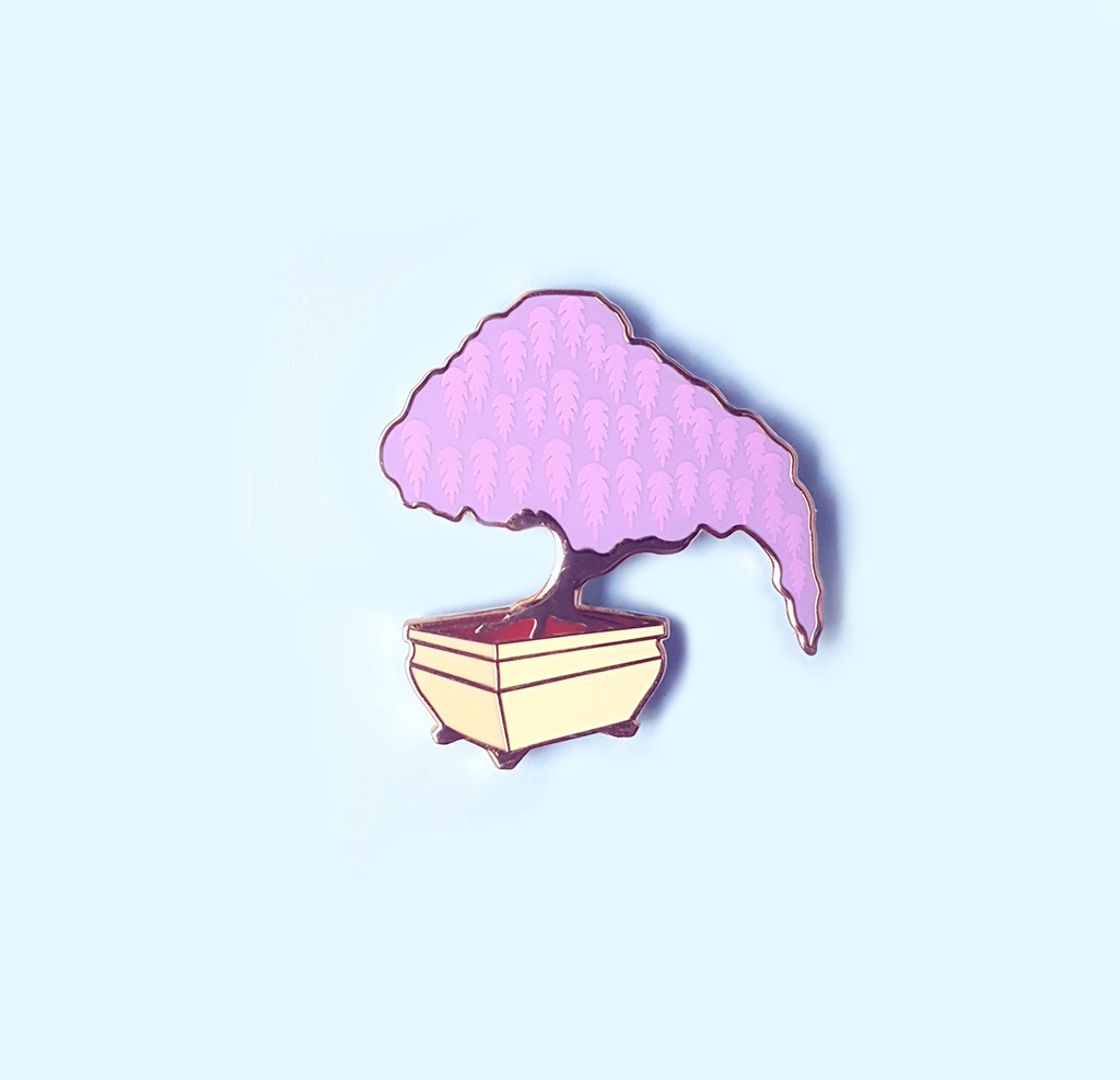 Wisteria Bonsai Enamel Pin