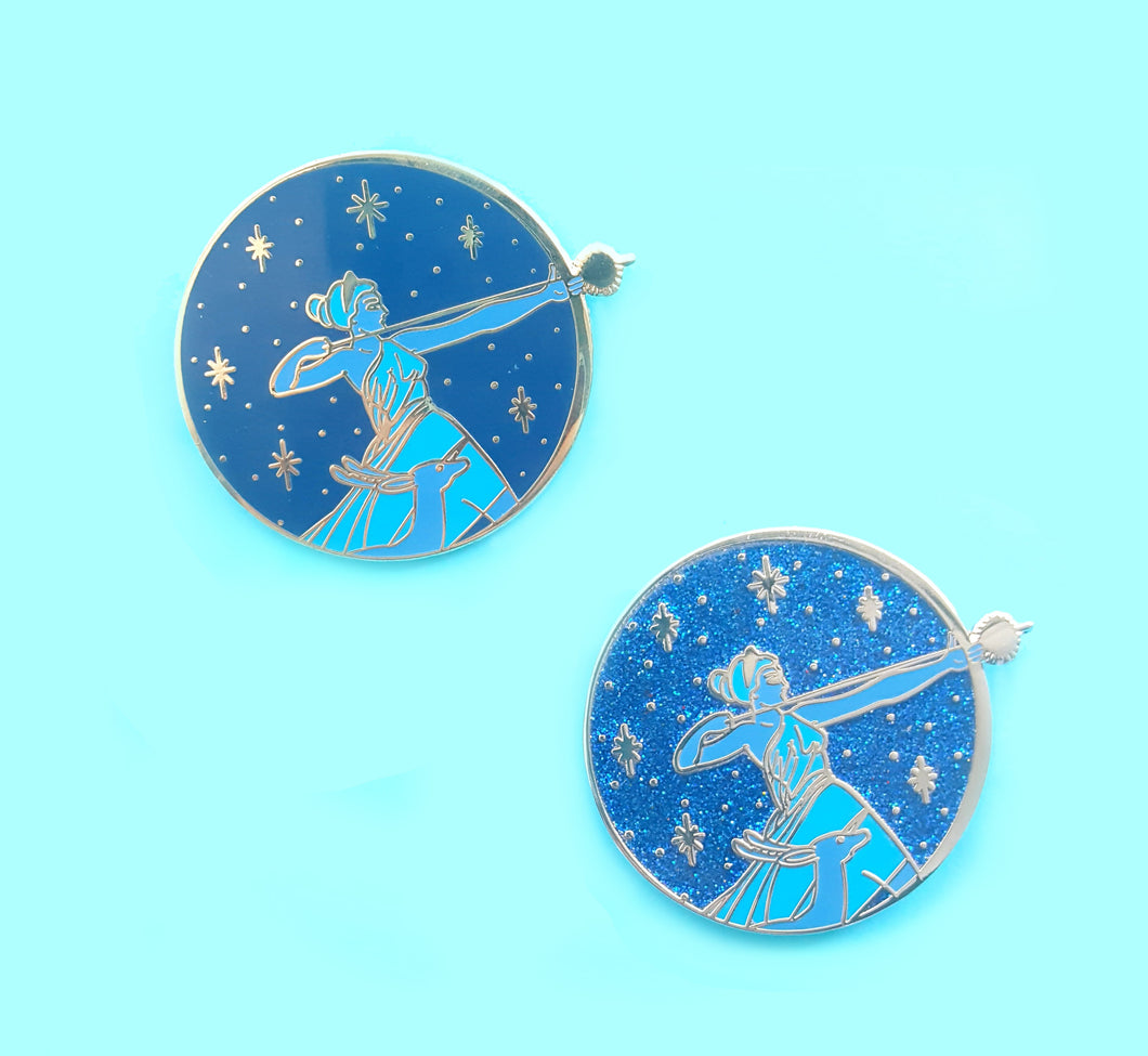 Artemis or Apollo Enamel Pin