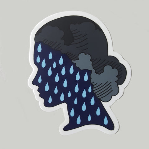 Rain Girl Sticker