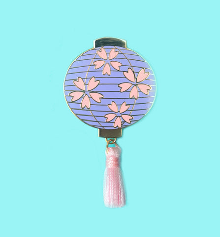 Purple Sakura Lantern Pin