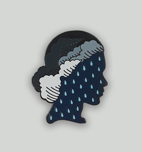 Sale *CLEARANCE It's always raining in my head Pin 2.0