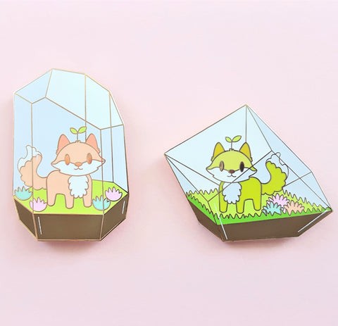 Fox Terrarium Pin