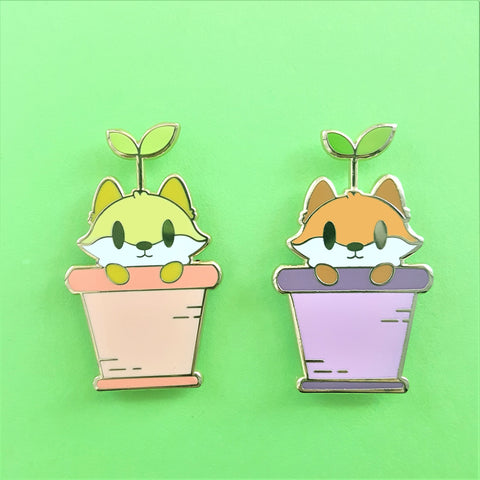 Sapling Fox Enamel Pin