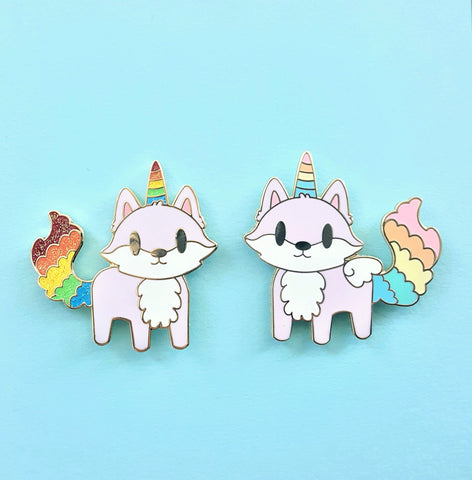Unicorn and/or Pegacorn Fox Pin