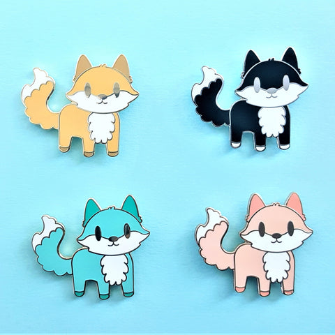 Standing Fauxy Fox Pin