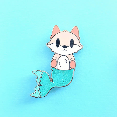 Merfox Mermaid Fox Pin