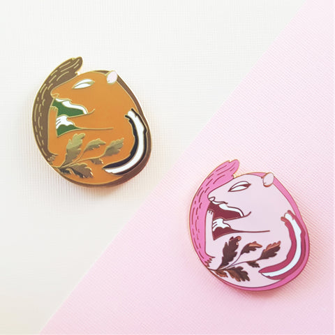 Sleeping Chipmunk Enamel Pin