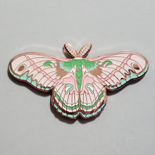 Load image into Gallery viewer, Cecropia Moth Pin - Pink/Brown Variants