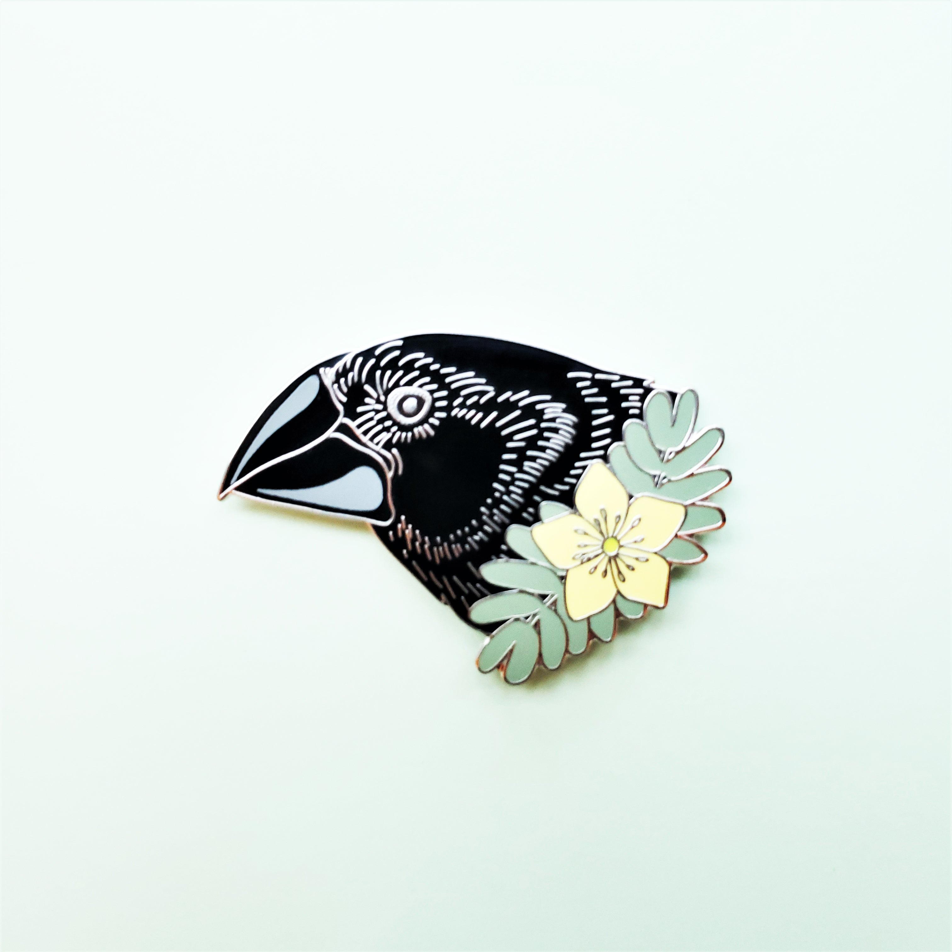 """Darwin's Finch"" Giant Ground Finch Enamel Pin"