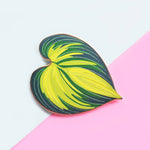 Hosta June Leaf Enamel Pin