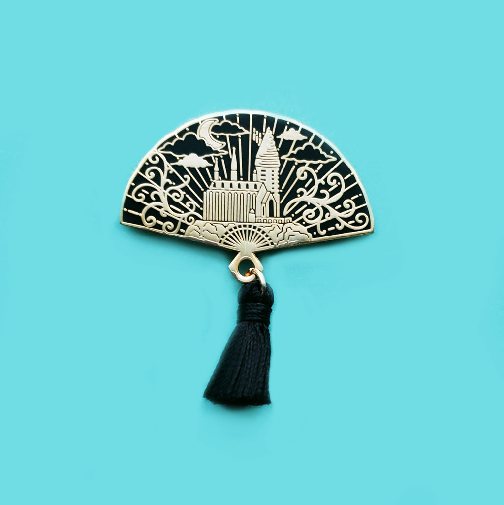 Magical School Hand Fan Enamel Pin