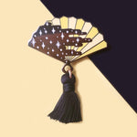 Darkness Hand Fan Enamel Pin