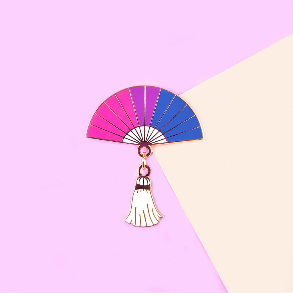 Bisexual Pride Hand Fan Pin