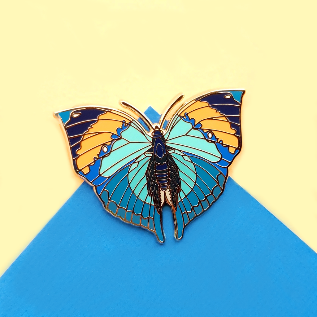 Dead Leaf Butterfly Enamel Pin
