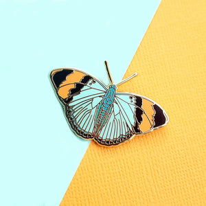 Gold Banded Forester Butterfly Enamel Pin