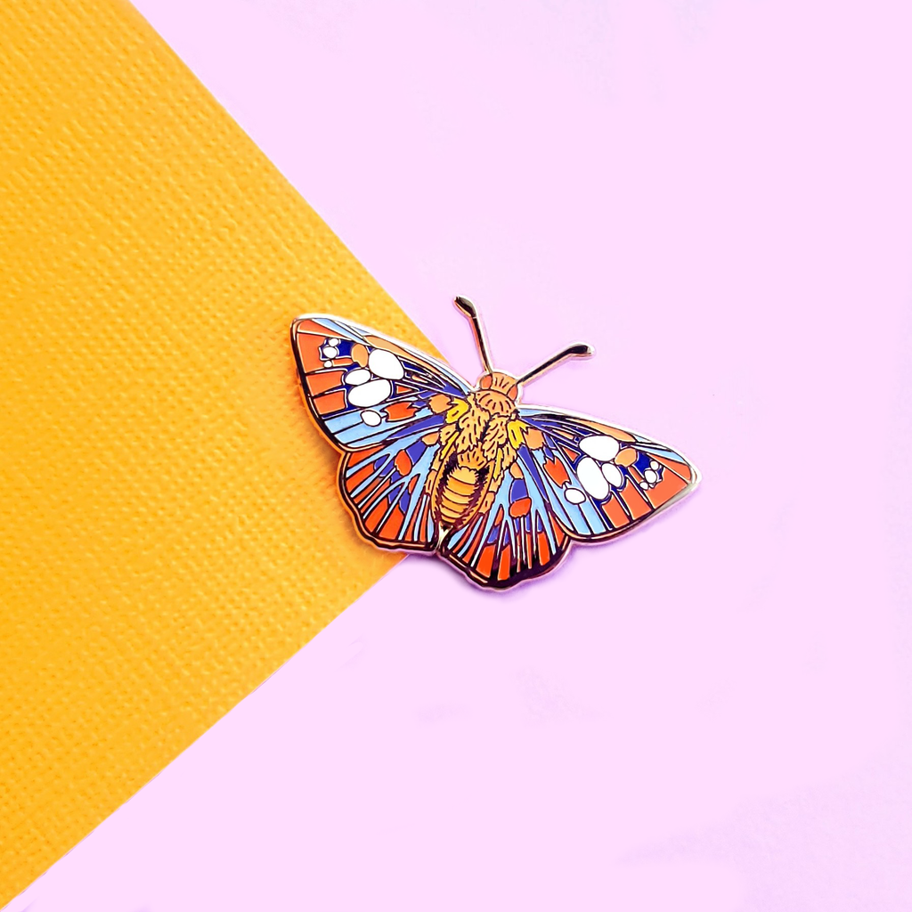 Peacock Butterfly Enamel Pin