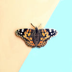 Painted Lady Butterfly Enamel Pin