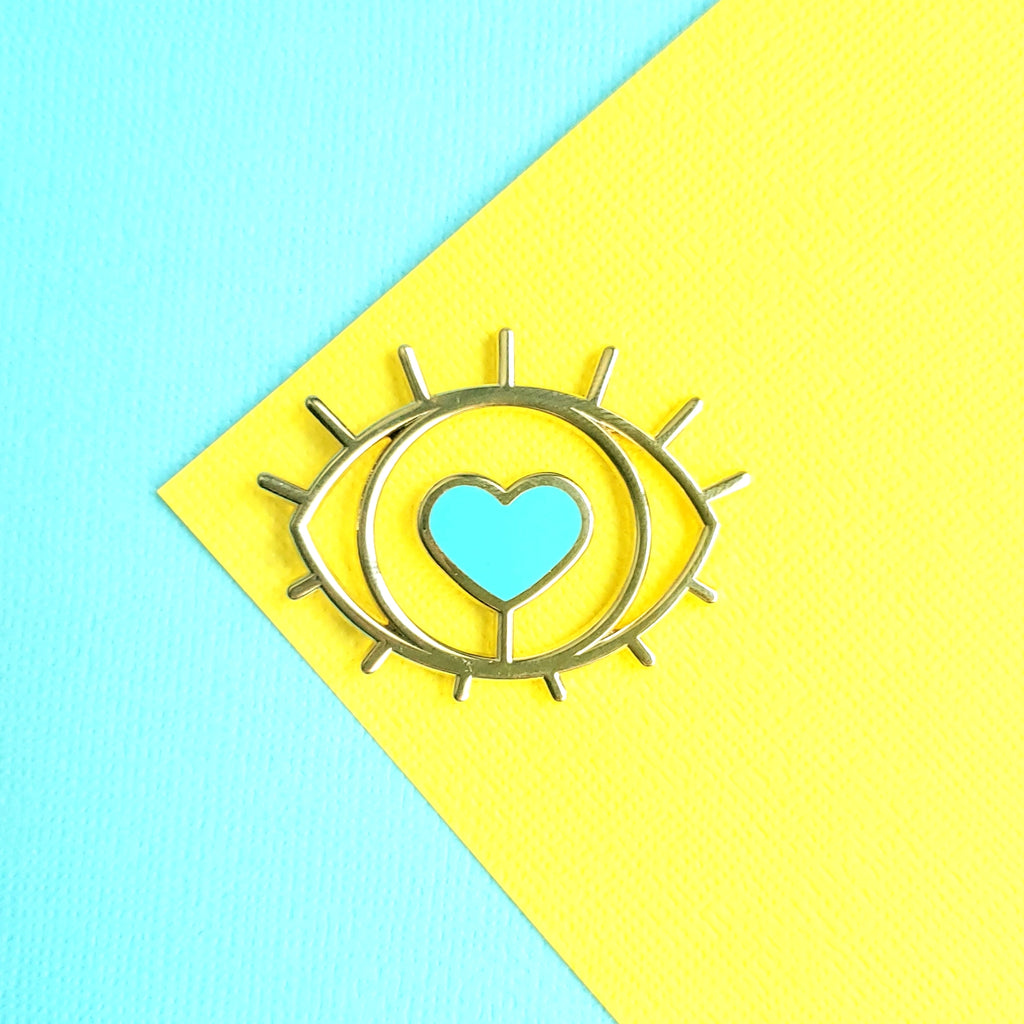 Heart Eye Enamel Pin
