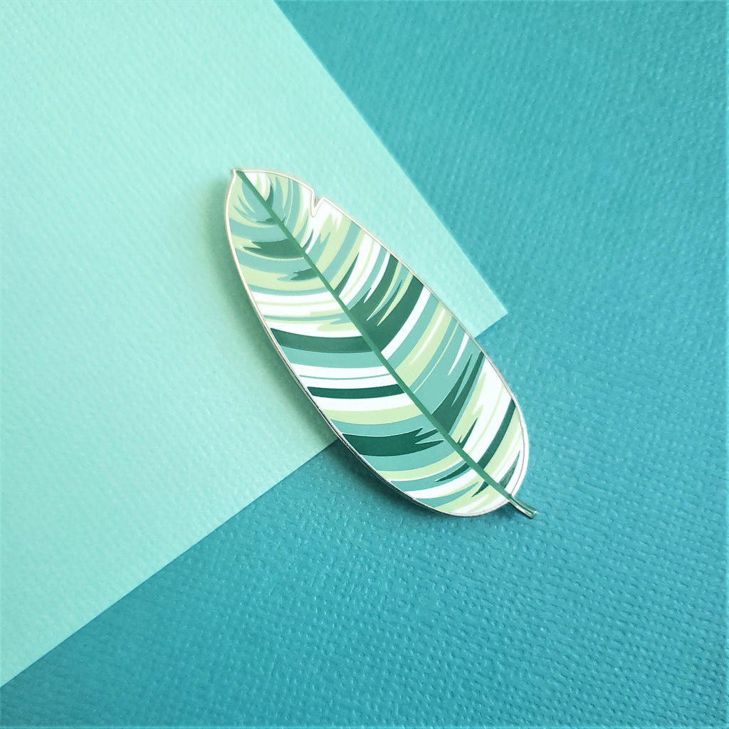 Variegated Banana Leaf Pin