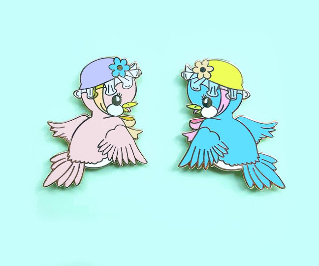 Sale CLEARANCE Vintage Inspired Bird Pins