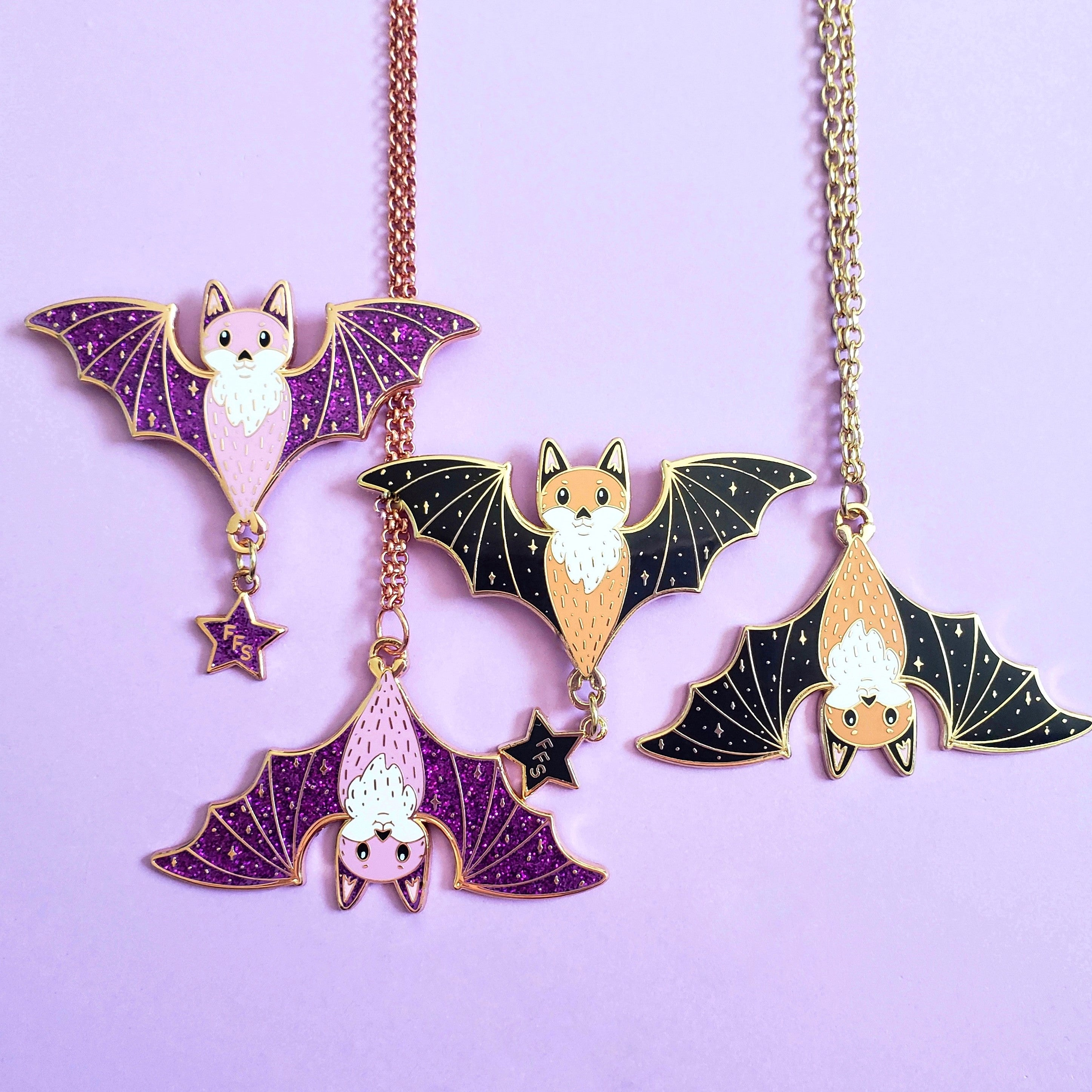 Fox Bat Pin and/or Necklace