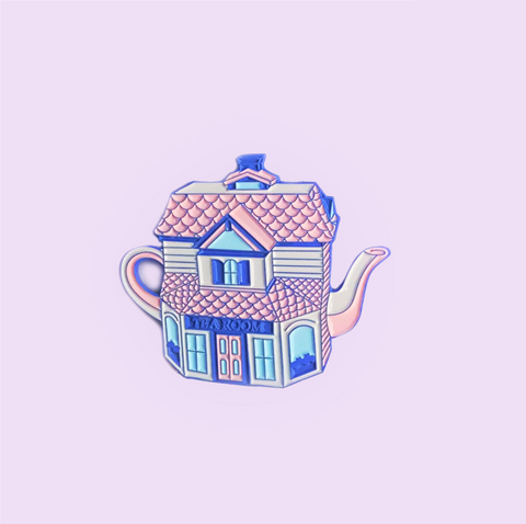 Tea Room Teapot Enamel Pin