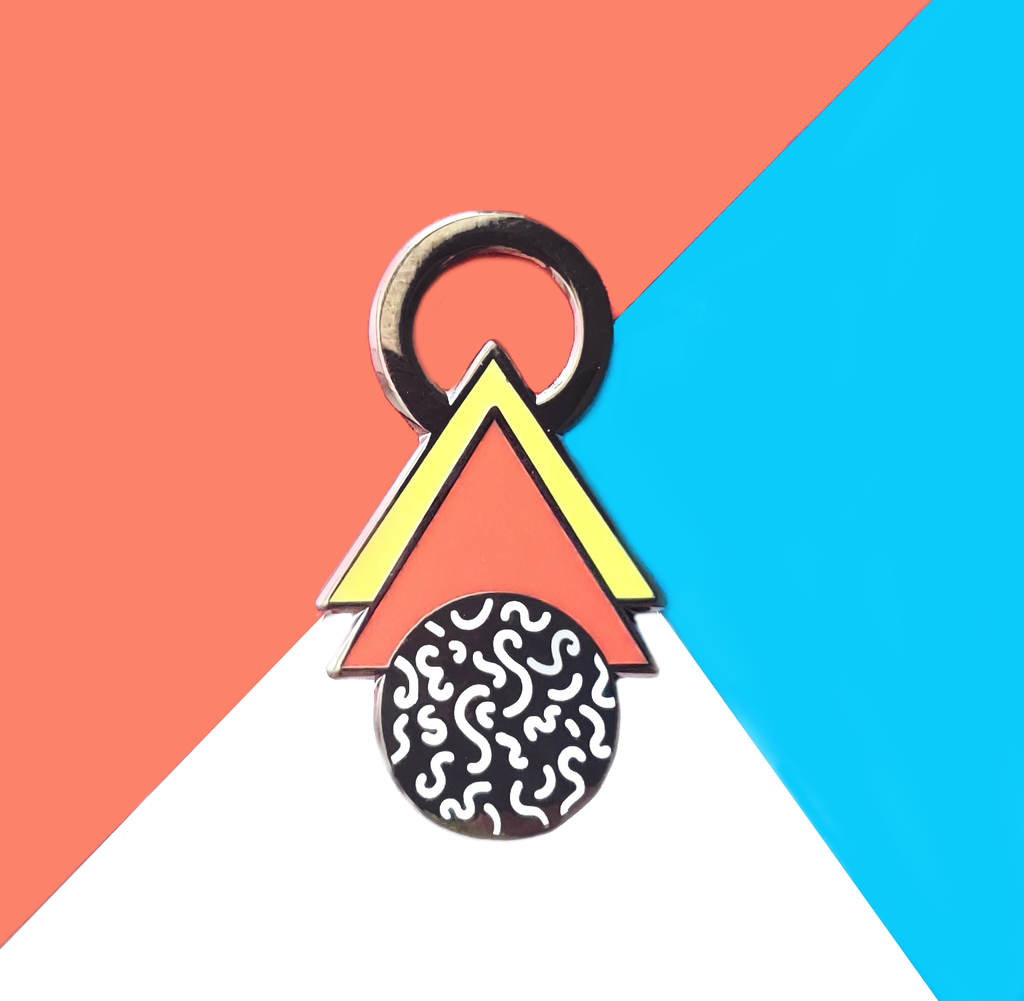 Red/Yellow Triangle Squiggle Pin