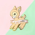 A-doe-rable! Vintage Deer Pin