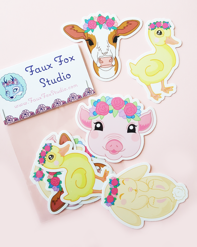 Farm Animal Sticker Pack